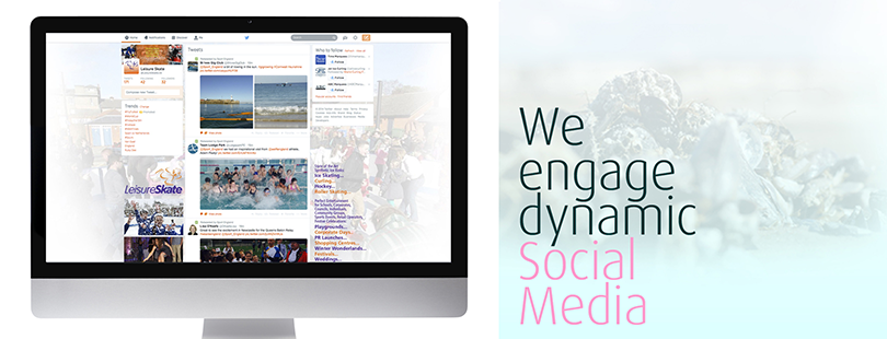 We engage dynamic social media